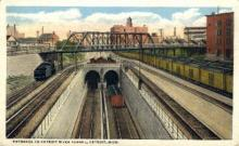 dep-MI003 - Detroit River Tunnel, Detroit, Michigan, MI, USA Railroad Train Depot Postcard Post Card