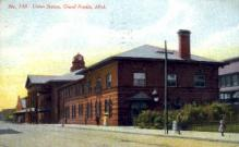 dep-MI013 - Union Station, Grand Rapids, Michigan, MI, USA Railroad Train Depot Postcard Post Card