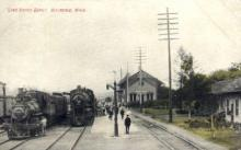 dep-MI015 - Lake Shore Depot, Hillsdale, Michigan, MI, USA Railroad Train Depot Postcard Post Card
