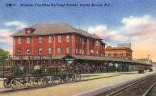 dep-NC003 - Atlantic Coastline Railroad Station, Rocky Mount, North Carolina, NC, USA Railroad Train Depot Postcard Post Card