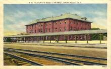 dep-NC004 - Atlantic Coast Line Depot, Rocky Mount, North Carolina, NC, USA Railroad Train Depot Postcard Post Card