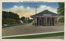 dep-NC005 - Railroad Station, Ridgecrest, North Carolina, NC, USA Railroad Train Depot Postcard Post Card