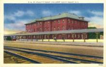 dep-NC006 - Atlantic Coast Line Depot, Rocky Mount, North Carolina, NC, USA Railroad Train Depot Postcard Post Card