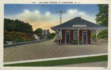 dep-NC007 - Railroad Station, Ridgecrest, North Carolina, NC, USA Railroad Train Depot Postcard Post Card