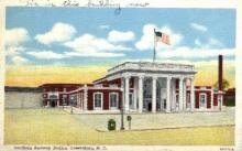dep-NC008 - Southern Depot, Greensboro, Southern Railway Station, Greensboro, North Carolina, NC, USA Railroad Train Depot Postcard Post Card