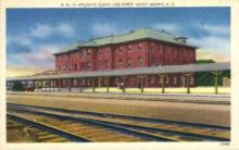 dep-NC009 - Atlantic Coast Line Depot, Rocky Mount, North Carolina, NC, USA Railroad Train Depot Postcard Post Card