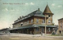 dep-NC010 - Southern Depot, Greensboro, North Carolina, NC, USA Railroad Train Depot Postcard Post Card