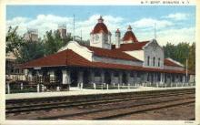 dep-ND004 - N.P. Depot, Bismarck, North Dakota, ND, USA Railroad Train Depot Postcard Post Card