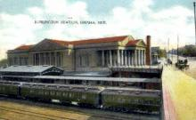 dep-NE003 - Burlington Station, Omaha, Nebraska, NE, USA Railroad Train Depot Postcard Post Card