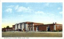 dep-NE004 - Union Pacific Station, Grand Island, Nebraska, NE, USA Railroad Train Depot Postcard Post Card