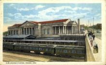 dep-NE009 - Burlington Station, Omaha, Nebraska, NE, USA Railroad Train Depot Postcard Post Card