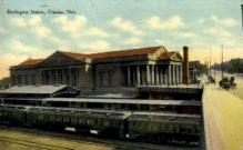dep-NE016 - Burlington Station, Omaha, Nebraska, NE, USA Railroad Train Depot Postcard Post Card