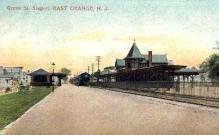 dep-NJ001 - Grove St Station, East Orange, New Jersey, NJ, USA Railroad Train Depot Postcard Post Card
