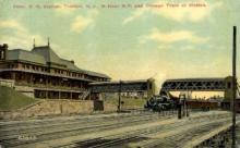 dep-NJ003 - Penn. R.R. Station, Trenton, New Jersey, NJ, USA Railroad Train Depot Postcard Post Card