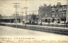 dep-NJ010 - YMCA and Lexington Ave, Passaic, New Jersey, NJ, USA Railroad Train Depot Postcard Post Card