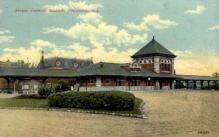 dep-NJ011 - Jersey Central Station, Plainfield, New Jersey, NJ, USA Railroad Train Depot Postcard Post Card