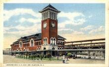 dep-NJ012 - Lackawanna R.R. Station, Newark, New Jersey, NJ, USA Railroad Train Depot Postcard Post Card