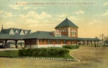 dep-NJ013 - East Bound Passenger Station, Plainfield, New Jersey, NJ, USA Railroad Train Depot Postcard Post Card