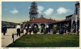 dep-NM004 - Sante Fe Station, Albuquerque, New Mexico, NM, USARailroad Train Depot Postcard Post Card