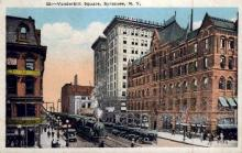 dep-NY001 - Vanderbilt Square, Syracuse, New York, NY, USA Railroad Train Depot Postcard Post Card