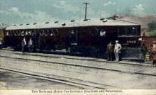 dep-NY009 - Erie Railroad Motor Car, Bradford, New York, NY, USA Railroad Train Depot Postcard Post Card