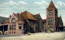 dep-NY011 - New York Central R.R. Station, Syracuse, New York, NY, USA Railroad Train Depot Postcard Post Card