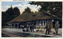 dep-NY014 - Station, Sacandaga, New York, NY, USA Railroad Train Depot Postcard Post Card