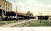 dep-NY015 - N.Y.C.R.R. Station, Schenectady, New York, NY, USA Railroad Train Depot Postcard Post Card