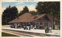 dep-NY016 - Railroad Station, Sacandaga, New York, NY, USA Railroad Train Depot Postcard Post Card