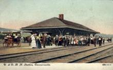 dep-NY025 - U.&D.R.R. Station, Tannersville, New York, NY, USA Railroad Train Depot Postcard Post Card