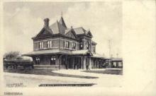 dep-NY027 - Erie Depot, Port Jervis, New York, NY, USA Railroad Train Depot Postcard Post Card