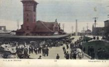 dep-NY037 - D.L.&W. Station, Binghamton, New York, NY, USA Railroad Train Depot Postcard Post Card