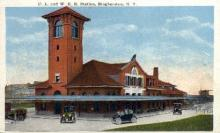 dep-NY038 - D.L.&W. R.R. Station, Binghamton, New York, NY, USA Railroad Train Depot Postcard Post Card
