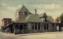 dep-NY041 - New York Central Railroad Station, Canadaigua, New York, NY, USA Railroad Train Depot Postcard Post Card
