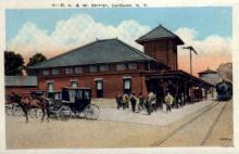 dep-NY043 - D.L.&W. Station, Cortland, New York, NY, USA Railroad Train Depot Postcard Post Card