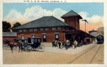dep-NY046 - D.L.&W. Station, Cortland, New York, NY, USA Railroad Train Depot Postcard Post Card