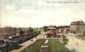 dep-NY047 - New York Central Station, Carthage, New York, NY, USA Railroad Train Depot Postcard Post Card