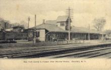 dep-NY048 - New York Central & Hudson river Railroad Station, Canastota, New York, NY, USA Railroad Train Depot Postcard Post Card