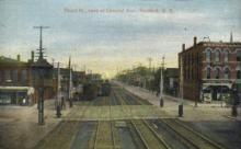 dep-NY055 - Third Street, Dunkirk, New York, NY, USA Railroad Train Depot Postcard Post Card