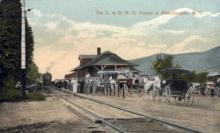 dep-NY062 - U.&D.R.R. Station, Fleischmans, New York, NY, USA Railroad Train Depot Postcard Post Card