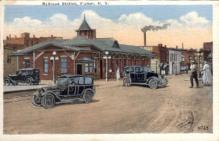 dep-NY066 - Railroad Station, Fulton, New York, NY, USA Railroad Train Depot Postcard Post Card