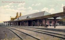 dep-NY070 - New York Central Depot, Geneva, New York, NY, USA Railroad Train Depot Postcard Post Card