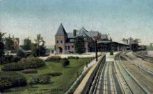 dep-NY074 - Lehigh Valley Depot, Geneva, New York, NY, USA Railroad Train Depot Postcard Post Card