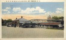 dep-NY087 - N.Y.,N.H.& H.R.R Station, Mt. Vernon, New York, NY, USA Railroad Train Depot Postcard Post Card