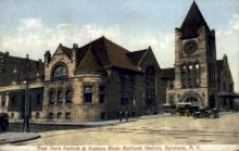 dep-NY088 - New York Central & Hudson River Railroad Station, Syracuse, New York, NY, USA Railroad Train Depot Postcard Post Card