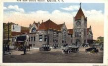 dep-NY089 - New York Central Station, Syracuse, New York, NY, USA Railroad Train Depot Postcard Post Card