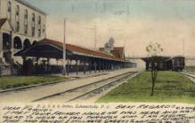 dep-NY092 - N.Y.C.R.R. Station, Schenectady, New York, NY, USA Railroad Train Depot Postcard Post Card