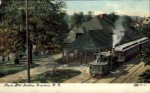 dep-NY097 - Park Hill Station, Yonkers, New York, NY, USA Railroad Train Depot Postcard Post Card