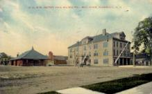 dep-NY106 - D.L.&W. Depot, Norwich, New York, NY, USA Railroad Train Depot Postcard Post Card
