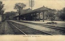 dep-NY107 - Railroad Station, Mt. Kisco, New York, NY, USA Railroad Train Depot Postcard Post Card